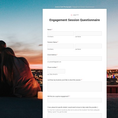 Engagement Session Questionnaire